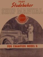 1940 Studebaker Shop Service Repair Manual Engine Drivetrain Electrical Book OEM