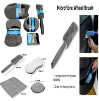 Car Cleaning Kit with Soft Texture Polish Applicator Pads Sponge Superfine Fiber