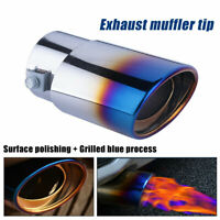Car Muffler Tip Exhaust Pipe Tail Burnt Blue Titanium Stainless Steel Car Rear