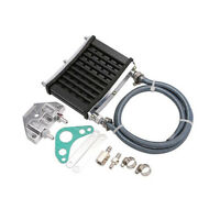 1 Set Aluminum Oil Cooler Cooling Radiator for Motorcycle Engine More Horsepower