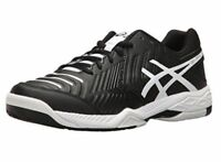 New Asics E705Y 9001 Gel Game 6 Black / White Men's Tennis Shoes Size 12 US
