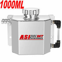 1L Aluminum Radiator Coolant Overflow Bottle Recovery Water Tank Bottle SILVER