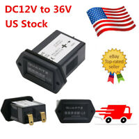 1PC DC12V to 36V Hour Meter Truck Tractor Diesel Outboard Engine Rectangular SYS