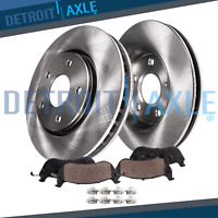 Front Disc Brake Rotors & Ceramic Pads for 2007 2008 2009 - 2012 Nissan Altima