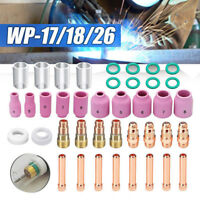49PC TIG Welding Torch Stubby Gas Lens #10 Pyrex Glass Cup for Tig WP-17/18/26