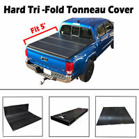5' Short Bed Hard Tri-Fold Tonneau Cover For 2005-2018 Toyota Tacoma