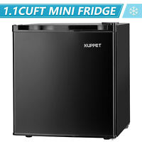 1.1 Cu Ft Compact Mini Freezer Upright Small Refrigerator Stainless Steel Black