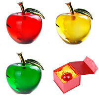 3D Crystal Apple Sculpture Paperweight - Desktop Ornament Decor Christmas Gifts
