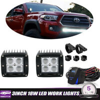 For 05-15 Toyota Tacoma Hidden Lower Bumper LED Fog Light Pod Upgrade Bracket