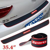 1SET Trunk Door Sill Plate Trim Rear Bumper Guard Protect Pad Soft Rubber Cover