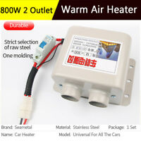 800W 2 Port Portable Winter Car Heater Fan Defroster Demister Air Conditioning