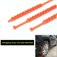 10Pcs Quad Row Repeatedly Used Car SUV Tire Anti-skid Chains for Safe Driving