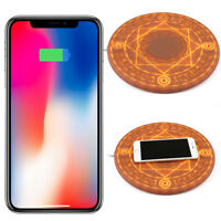 Qi Wireless Fast Charger Dock Charging Pad For iPhone 8 8Plus SE Samsung Huawei