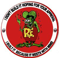RAT ROD HOT ROD STICKER  RAT FINK VINTAGE RACING TOOL BOX  GAS OIL