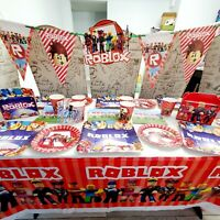 ROBLOX CUPCAKE CAKE TOPPER party NAPKIN balloon SUPPLIES decorations toppers CUP