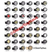 1/64 Scale Alloy Wheels - Custom Hot Wheels and other Diecast car - Rubber Tires