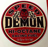 RAT ROD HOT ROD STICKER SPEED DEMON RACING  TOOLS GAS OIL  MOTORCYCLE RAT FINK