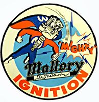 RAT ROD HOT ROD STREET ROD MALLORY  DECAL VINTAGE RACING STICKER RAT FINK
