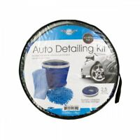 Auto - Car Wash Kit with Collapsible Bucket. 2PK NEW