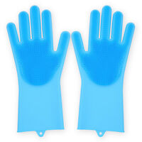 Reusable Heavy Duty Soft Silicone Kitchen Bathroom Dish Washing Cleaning Gloves