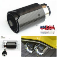 Glossy Black Carbon Fiber M Performance Car Exhaust Tail Pipe End Tips  for BMW