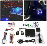 12V Car Alarm System Security Keyless Entry Push Button Remote Engine Start Kit