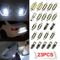 23x White LED Interior Package Kit T10 &31mm Map Dome License Plate Light Bulbs