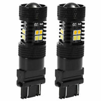 2x Switchback Dual Color White + Amber 3157 2835 42SMD Turn Signal LED Bulbs