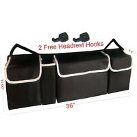 Car Trunk Organizer Car Interior Accessories Back Seat Storage Box Bag Multi-use