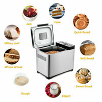 2 LB Automatic Stainless Steel Bread Maker Programmable Bread Machine Home