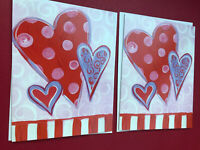 (2) Valentine's Day Note Cards/Greeting Cards By Leanin' Tree Quantity 2