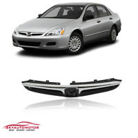 Fits Honda Accord Sedan 2006 2007  Front Upper Grille Chrome Trim 2PCS