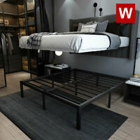 CAL King Heavy Duty Steel Bed Frame - California King Platform Bed - Height 14