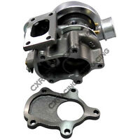 GT25 T25 TURBO CHARGER w/ WASTEGATE 14PSI Water Banjo For FORD MUSTANG S13