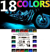 Pick Your Own LED Motorcycle Custom Neon Glow Motorcycle Strip or Pod Lights Kit