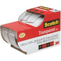 8 X 3M Scotch Clear Transparent Office Tape 3/4