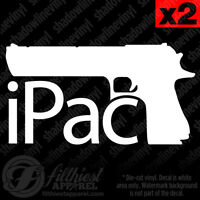 iPac Decal Vinyl Sticker Pro Hand Gun Molon Labe nra Self Defense 1911 9mm ACP
