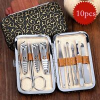 Nail Care 10pcs Personal Manicure & Pedicure Set Travel & Grooming Kit Men/Women