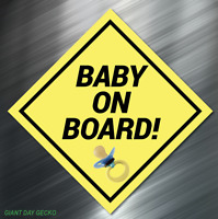 Reflective BABY ON BOARD Safety Decal nighttime visible sticker Car SUV Decal