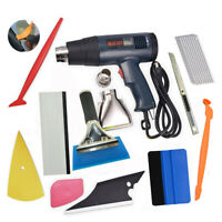 Heat Air Blower 110V Car Window Film Tinting Sticker Cleaning Tools Kit Squeegee