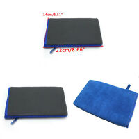 2pcs Car Wash Magic Clay Mitt Cloth Car Care Cleaning Sponge Pad Towel Blue+Grey