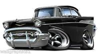 1957 Chevrolet 283 Turbo Fire Wall Graphic Decal Garage Decor