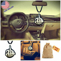 Skull Middle Finger Auto Truck Pendant Rear View Mirror Ornament Hanging Charms