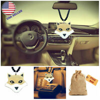 Gold Fox Car Truck Animal 3D Pendant Auto RearView Mirror Ornament Hanging Charm