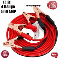 13 Ft 4 Gauge Heavy Duty Power Booster Cable Emergency Car Battery Jumper FS USA