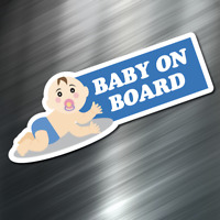 Blue BABY ON BOARD Safety Decal visible sticker Car SUV Rear Window Child Parent