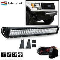 30INCH 180W CURVED LED Work Light Bar Flood Spot Combo+ Wiring Harness+2x18W Kit