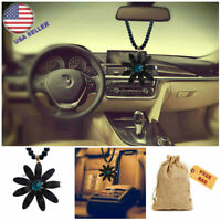 Cat's eye Flower Car Truck Pendant Auto Rear View Mirror Ornament Hanging Charms