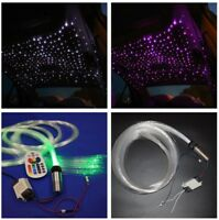 2M Car Fiber Optic Star Ceiling Light Atmosphere Light RF Touch Remote Control