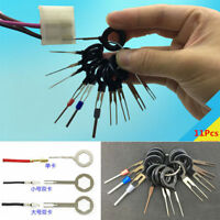 11pc Car Wiring Connector Pin Extractor Puller Release Terminal Removal Tool Kit